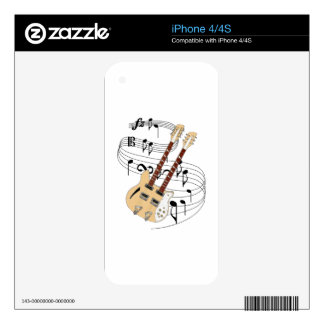 Double Neck Guitar Skin For The iPhone 4