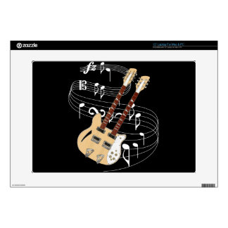 """Double Neck Guitar Skins For 15"""" Laptops"""