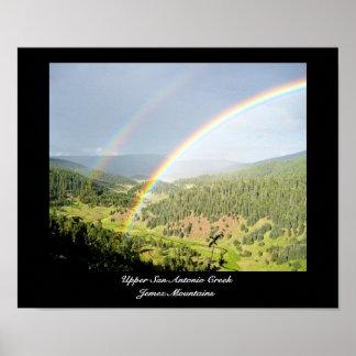 Double New Mexico Rainbow Poster