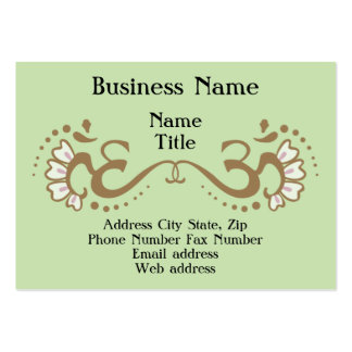 Double Om Profile Card Large Business Cards (Pack Of 100)