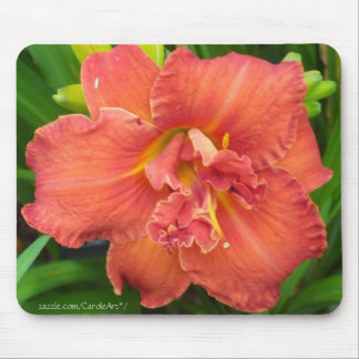 """""""Double Orange Day Lily"""" Mouse Pad"""