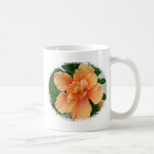 Double Peach Hibiscus Coffee Mug