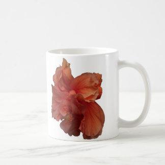 double peach hibiscus flower classic white coffee mug