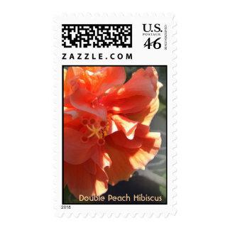 Double Peach Hibiscus Postage