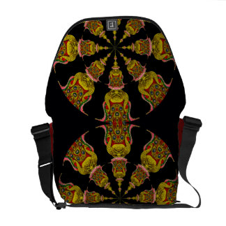 Double Peacocks Courier Bag