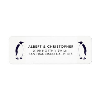 Double Penguins Funny Reference | Return Address Label