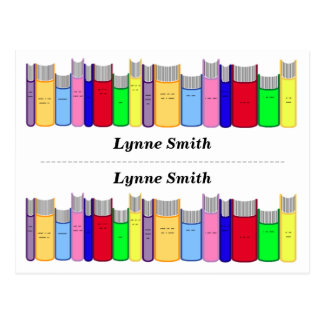 Double Personalized bookmarks Post Cards