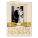 Double Photo 60th Anniversary Invitation Card Greeting Card