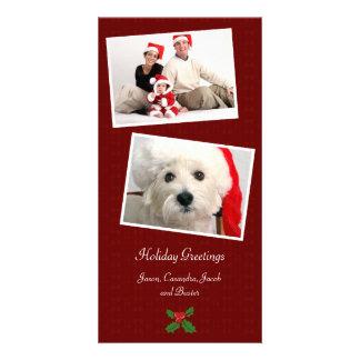 Double Photo Family Holiday Christmas Photo Card