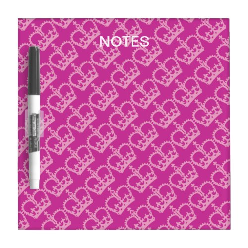 Double Pink Crowns Dry-Erase Board