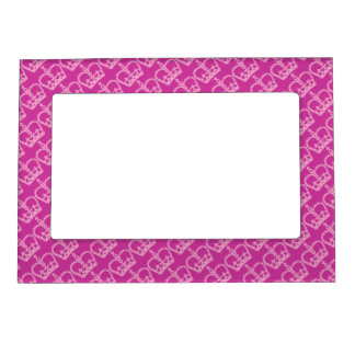 Double Pink Crowns Magnetic Frame