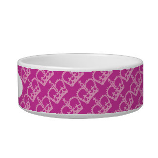 Double Pink Crowns Pet Food Bowl