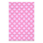 Double Pink Dots With Lines Stationery