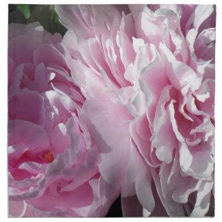 Double pink peonies DPP Cloth Napkin