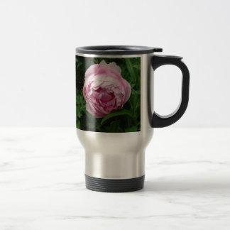 Double Pink Peony - Photograph Travel Mug