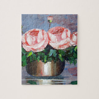 Double Pink Rose Jigsaw Puzzles