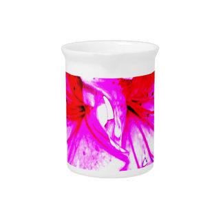 Double Pink Splash Azalea Blooms Beverage Pitcher