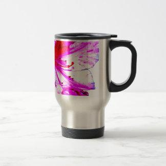 Double Pink Splash Azalea Blooms Travel Mug