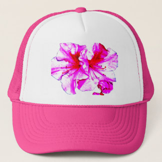 Double Pink Splash Azalea Blooms Trucker Hat