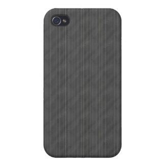 Double Pinstriped (Dark Gray) iPhone 4/4S Case