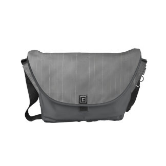 Double Pinstriped (Med. Gray) Small Messenger Bag