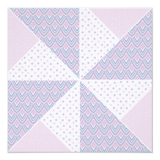 Double Pinwheel Pastel Blue & Pink Quilt Block Card
