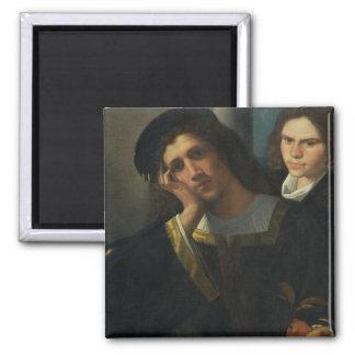 Double Portrait, c.1502 2 Inch Square Magnet