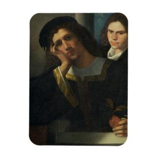 Double Portrait, c.1502 Rectangular Magnets