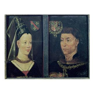 Double portrait of Charles le Temeraire  Duke Postcard