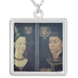 Double portrait of Charles le Temeraire  Duke Silver Plated Necklace