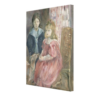 Double portrait of Charley and Jeannie Thomas, chi Canvas Print