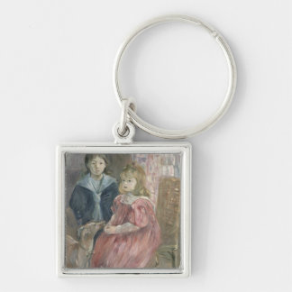 Double portrait of Charley and Jeannie Thomas, chi Keychain