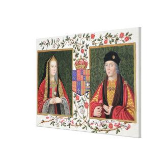 Double portrait of Elizabeth of York (1465-1503) a Canvas Prints