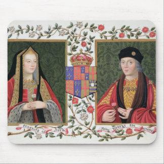 Double portrait of Elizabeth of York (1465-1503) a Mouse Pad