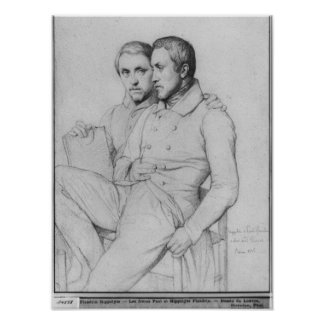 Double portrait of Hippolyte and Paul Flandrin Poster