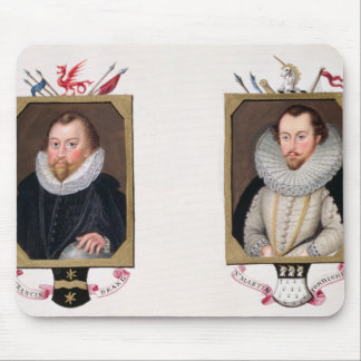 Double portrait of Sir Francis Drake (c.1540-96) a Mouse Pad