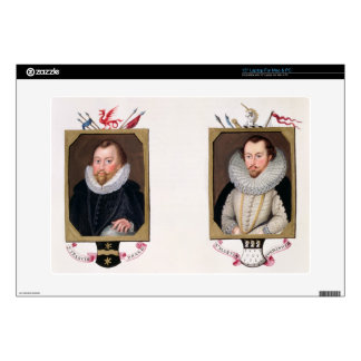 """Double portrait of Sir Francis Drake (c.1540-96) a Skins For 15"""" Laptops"""