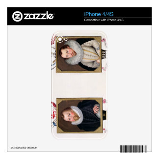 Double portrait of Sir Francis Drake (c.1540-96) a Skins For The iPhone 4