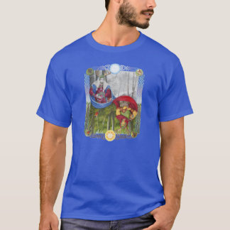 Double Portrait of the Oak King and Holly King T-Shirt