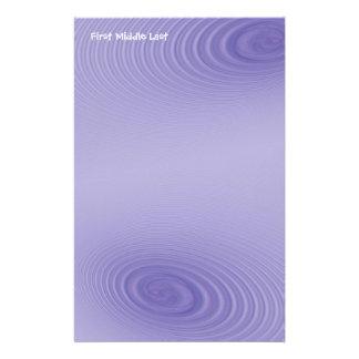 Double Purple Swirls Personalized Stationery