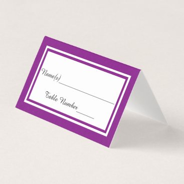 Wedding Themed Double Purple Trim - Escort Card