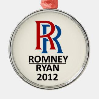 Double R: Romney / Ryan 2012 Metal Ornament