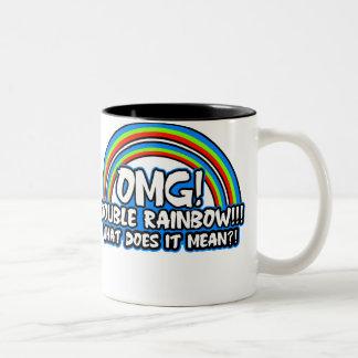 Double Rainbow $17.95 Two-Toned Coffee Mug