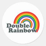 Double Rainbow (Accessories) Classic Round Sticker