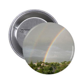 Double Rainbow After The Rain Pinback Button