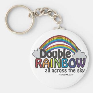 Double Rainbow All Across The Sky Keychain
