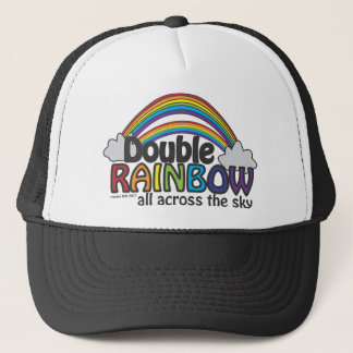 Double Rainbow All Across The Sky Trucker Hat