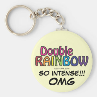 Double Rainbow All The Way Across The Sky Keychain