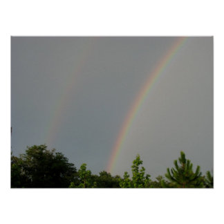 double rainbow all the way across the sky poster