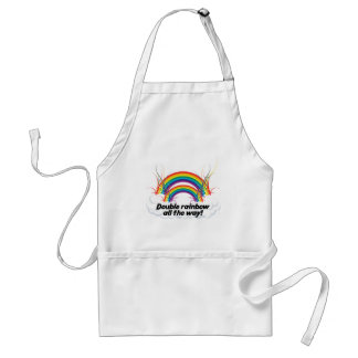 DOUBLE RAINBOW ALL THE WAY ADULT APRON